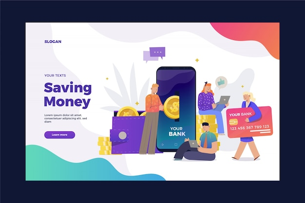 Saving money landing page