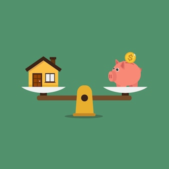 Savings background design