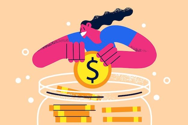 貯蓄予算経済金融の概念