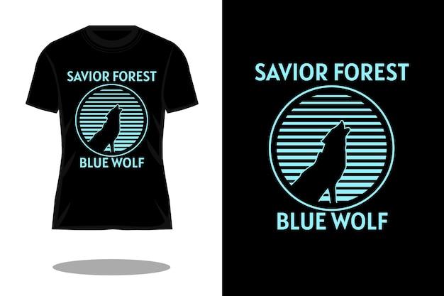 救世主の森のシルエットヴィンテージtシャツのデザイン