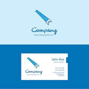 Логотип пила и визитная карточка