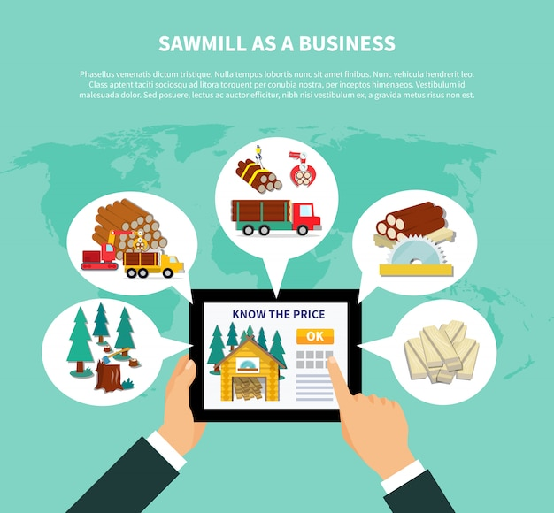 Sawmill as a business composition