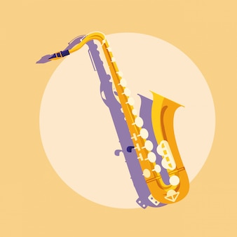 Saxophone classical instrument