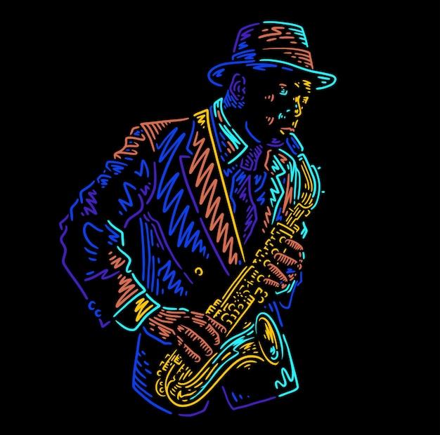 Saxophone jazz