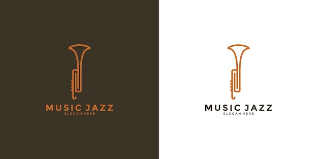 Saxophone logo design music jazz for your business