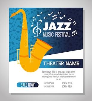 Saxophone musical instrument label