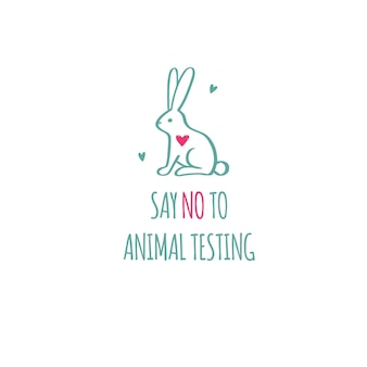 Say no to animal testing cruelty free  conceptual illustration