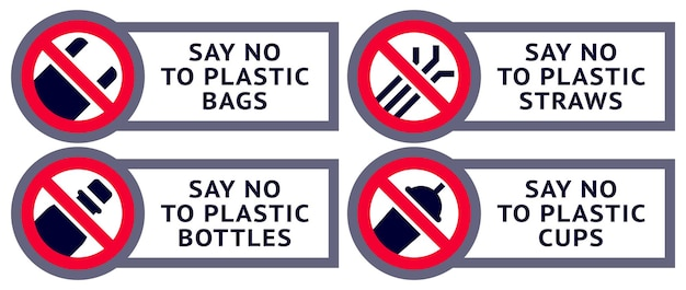 Say no to plastic: stickers for print