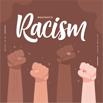 Say no to racism illustration background
