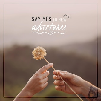 Say yes to new adventures quote