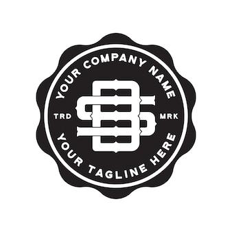 Шаблон логотипа sb monogram