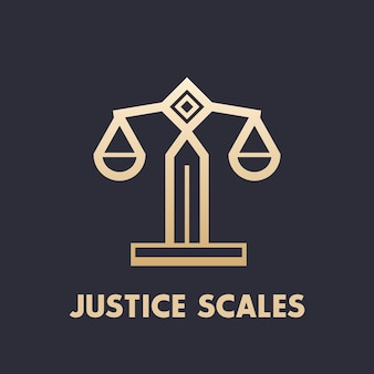 Scales icon, law firm logo element