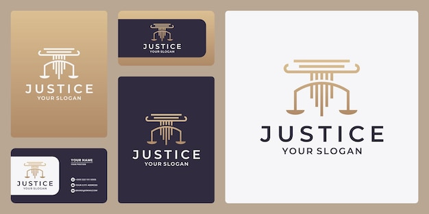 Scales vector illustration. attorney logo vector design. justice law logo design template