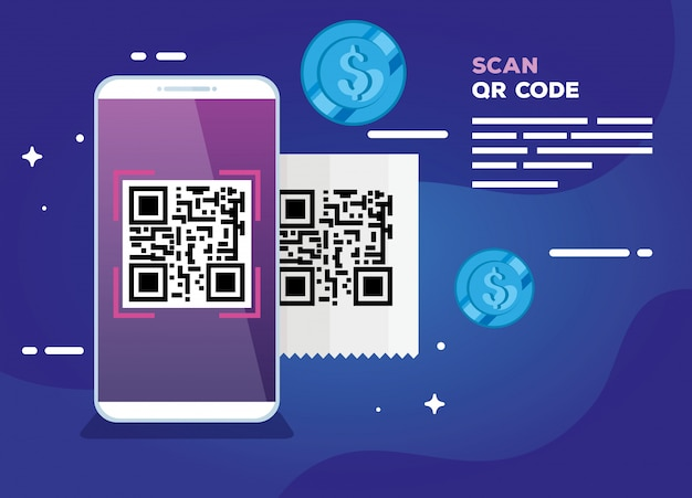 Scan code qr with smartphone