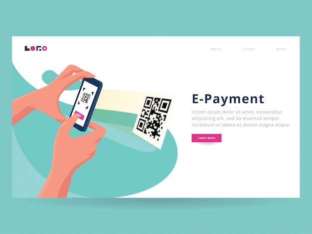 Scan payment landing page