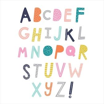 Скандинавский алфавит. ручной обращается графический шрифт.