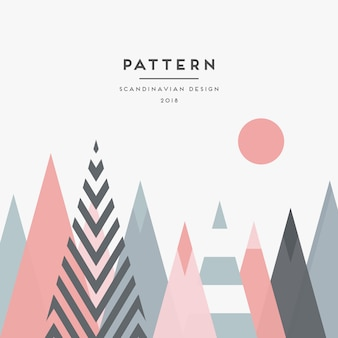 Scandinavian geometric background