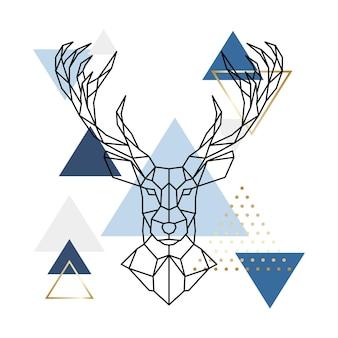 Скандинавский геометрический олень