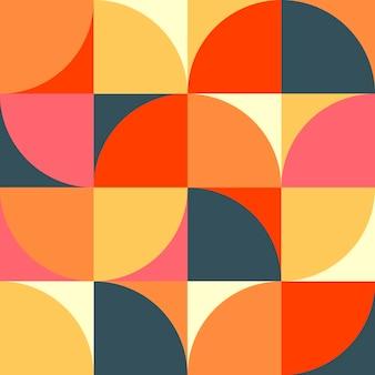 スカンジナビアの幾何学シンプルな色のシームレスなパターン抽象的なアートワークのミニマルな背景