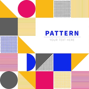 Scandinavian inspiration pattern with space for text