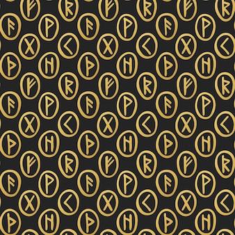 스칸디나비아 마법의 룬 문자 실루엣 낙서 점쟁이 예측 할로윈 요술