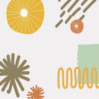 Sfondo di stampa moderna scandinava in colori colorati