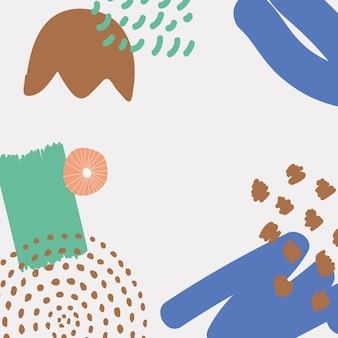 Sfondo di stampa moderna scandinava in blu tono terra