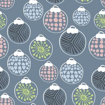 Scandinavian new year seamless pattern
