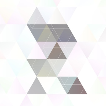 Scandinavian style abstract triangular art
