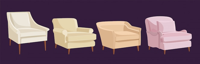 Scandinavian style set armchairs
