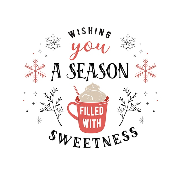 Скандинавский стиль, простая и стильная поздравительная открытка с рождеством христовым с элементами рисованной