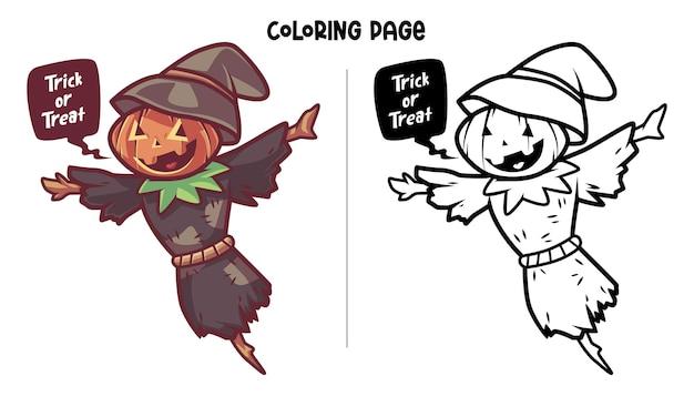 Scarecrow at halloween
