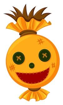 幸せそうな顔のかかしの頭