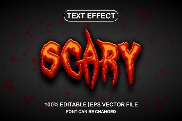 Scary 3d editable text effect