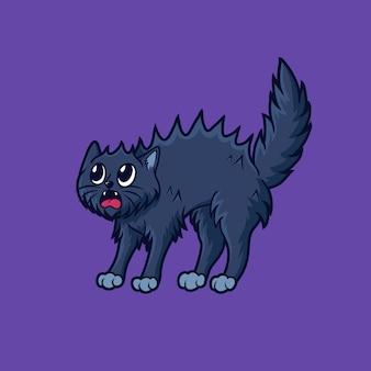 무서운 고양이 그림