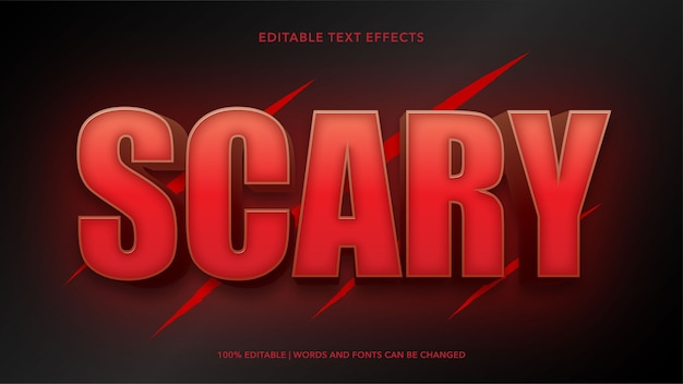 Scary editable text effects