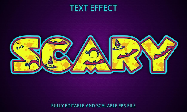 Scary fully editable text effect