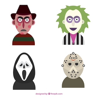 Scary halloween characters