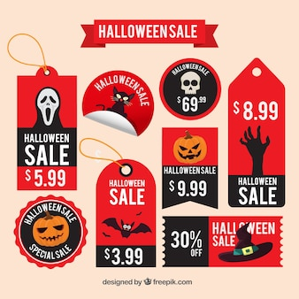 Scary halloween discount labels