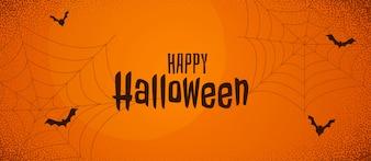 Scary halloween orange banner
