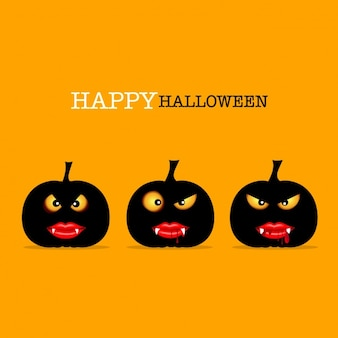 Scary halloween pumpkins background