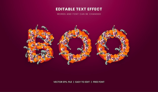 Scary halloween text effect