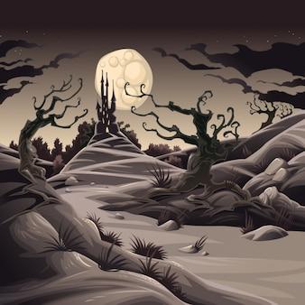 Scary landscape background