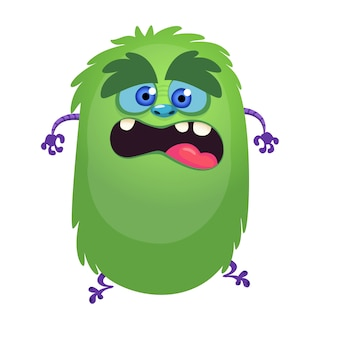 Scary monster cartoon talking. vector illustration