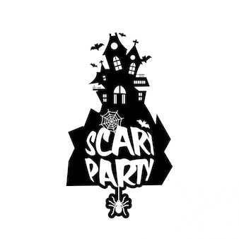 Scary night design with typography vector
