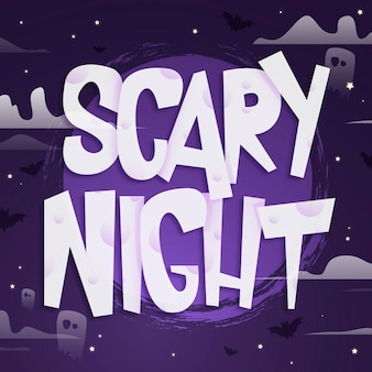 Scary night lettering template