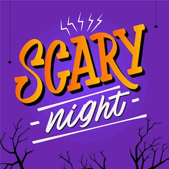 Scary night lettering theme