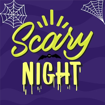 Scary night lettering