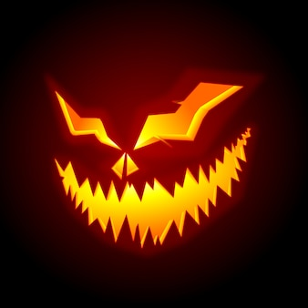 Scary pumpkin halloween face