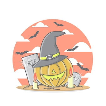 Scary pumpkin for halloween